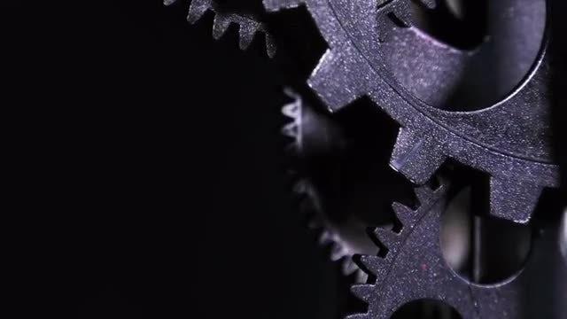 Metallic Grunge Clock Gears: Stock Video