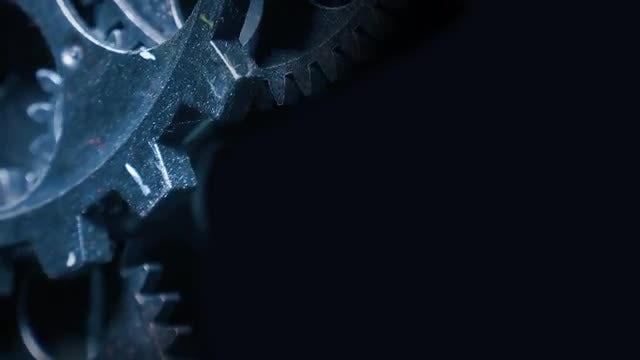 Grunge Clock Gears Moving: Stock Video