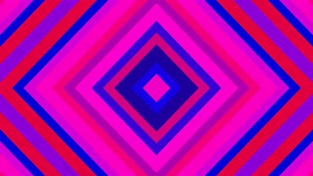 Blue Pink Disco Kaleidoscope 4K: Stock Motion Graphics