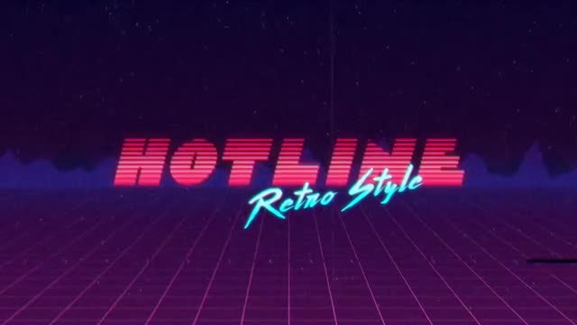 RetroWave Intro: After Effects Templates