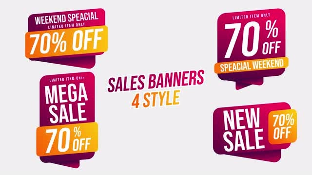 Sales Banners: After Effects Templates