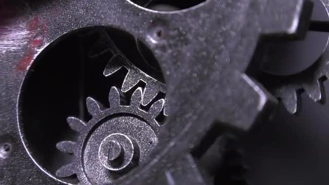 Clock Gears Moving: Stock Video