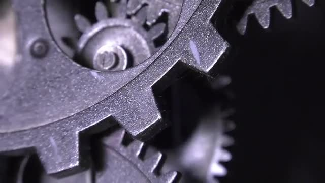 Grunge Clock Gears: Stock Video