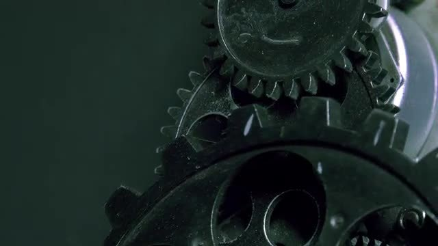 Rusty Metallic Clock Gears: Stock Video