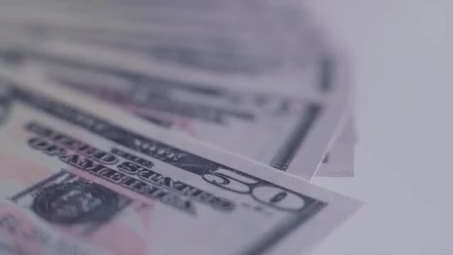 Fifty Dollar Bills: Stock Video