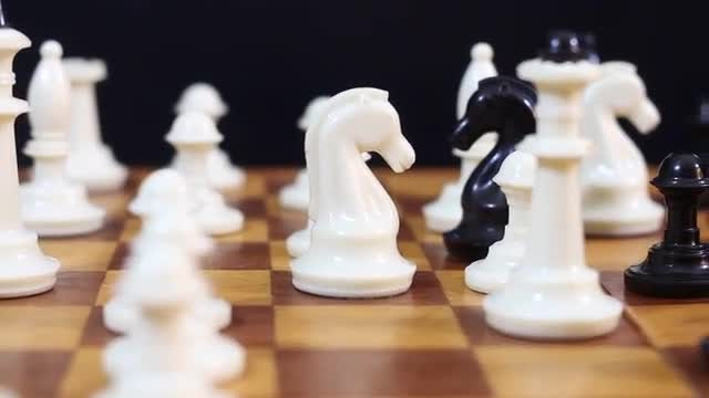 White Chess Pieces: Stock Video