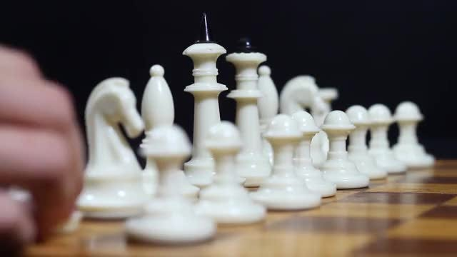 Putting Chess Pieces: Stock Video