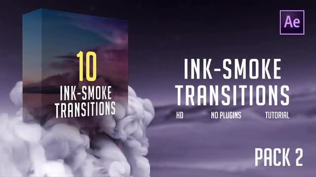Ink-Smoke Transitions (Pack 2): After Effects Templates