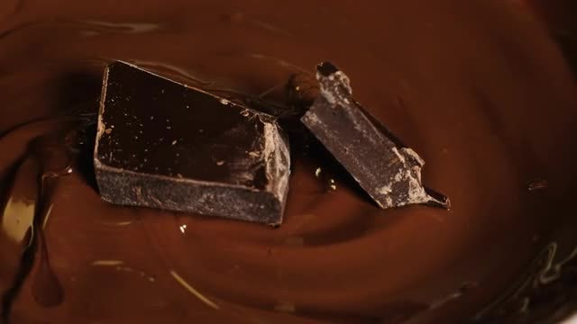 Chunks Of Chocolate Melting: Stock Video