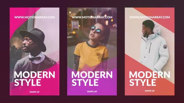 Modern Instagram Stories: After Effects Templates