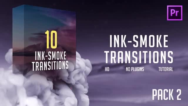 Ink-Smoke Transitions (Pack 2): Premiere Pro Templates