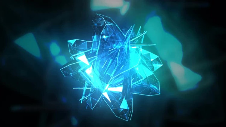 Music Transforming Abstract Crystal: Stock Motion Graphics
