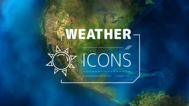 Weather Forecast Icons: After Effects Templates