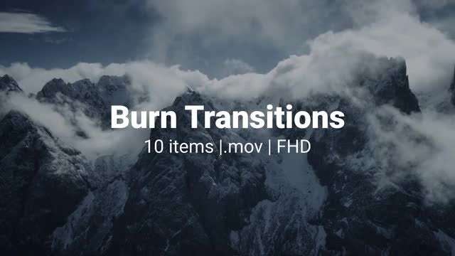 Burn Transitions Pack: Stock Motion Graphics