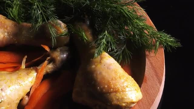 Delicious Chicken Meal: Stock Video