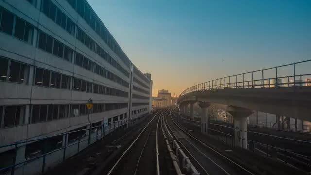 Hyperlapse Of A Train: Stock Video