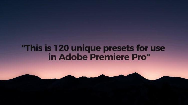 Modern Text Presets: Premiere Pro Presets