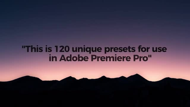 Modern Text Presets: Premiere Pro Presets