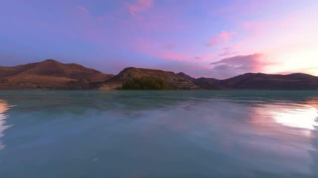 Dusk Landscape: Stock Motion Graphics