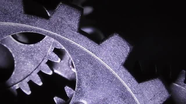 Detail Of Grunge Clock Gear: Stock Video