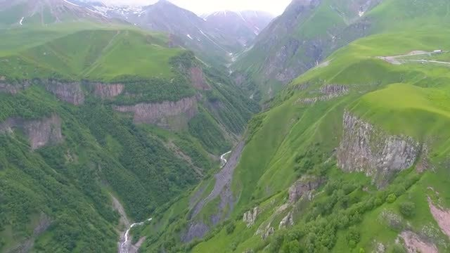 Aerial View Of Mountains: Stock Video