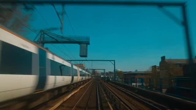Train Journey In London: Stock Video