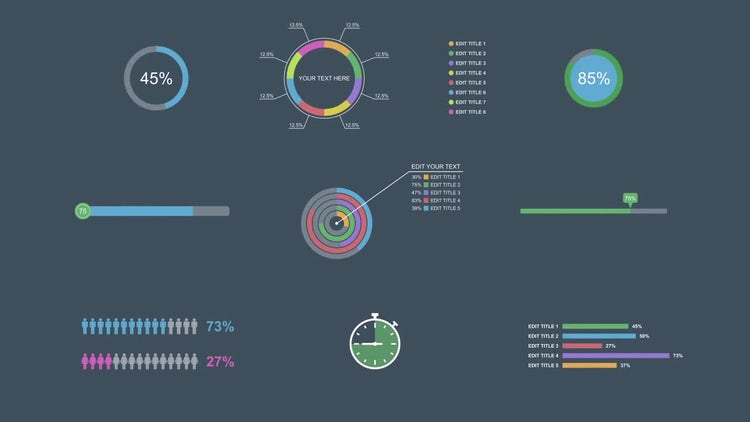 Flat Infographic Elements: After Effects Templates