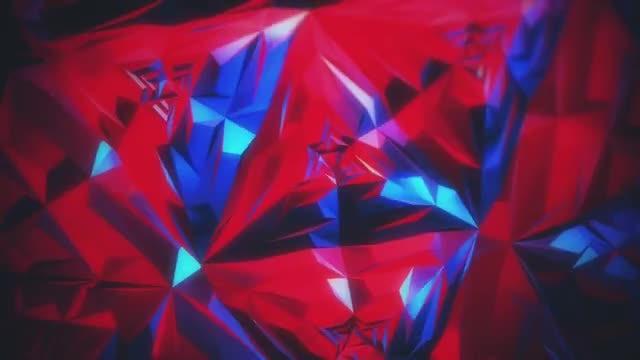 Iridescent Polygonal Background: Stock Motion Graphics