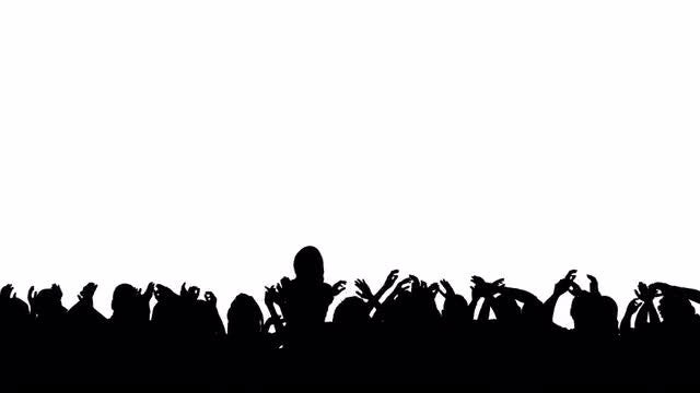 Silhouette Crowd Concert: Stock Motion Graphics