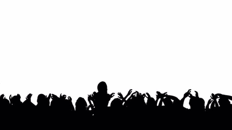 Silhouette Crowd Concert: Motion Graphics