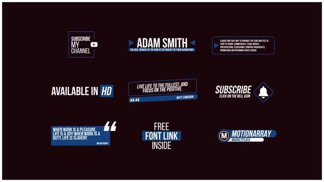 Modern Titles Pack: After Effects Templates
