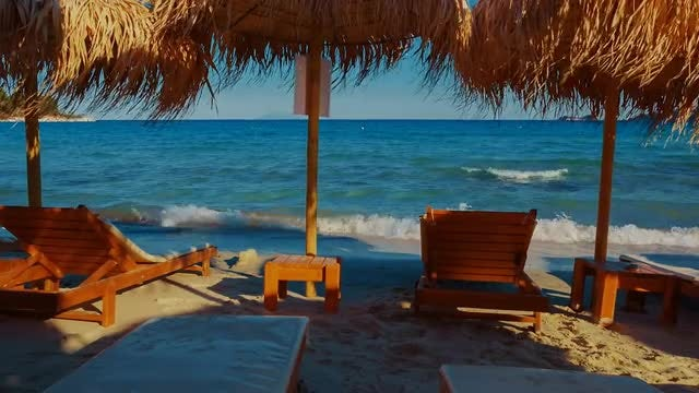 Postcard From Mediterranean Beach: Stock Video