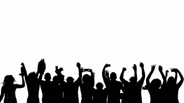 Silhouette Crowd Mobile: Stock Motion Graphics