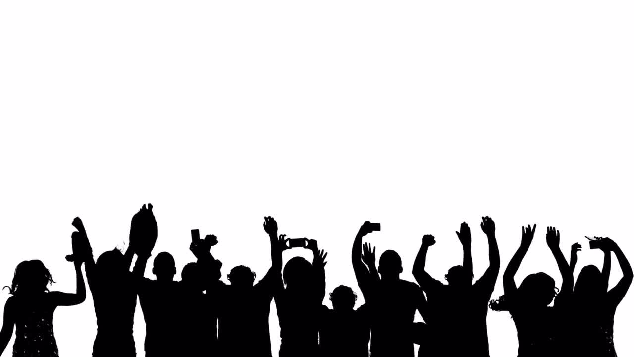 silhouette crowd mobile stock motion graphics motion array free football player clipart black and white Football Field Clip Art Black and White