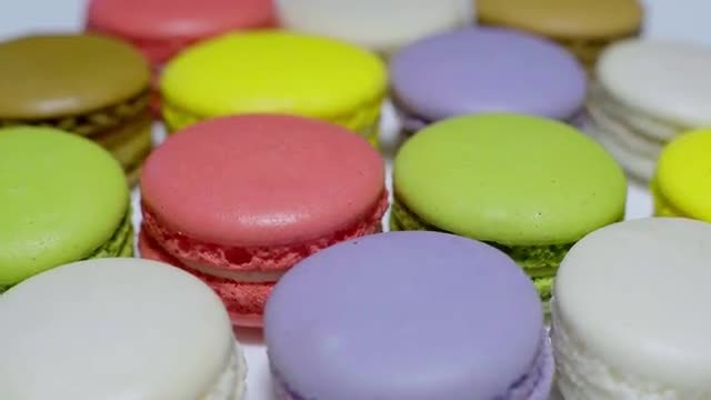 Colorful Macarons: Stock Video