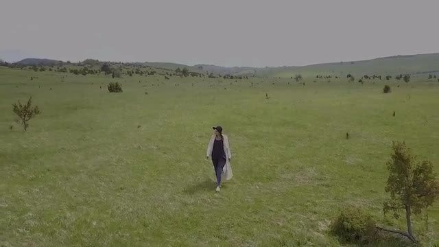 Woman Walking In Nature: Stock Video