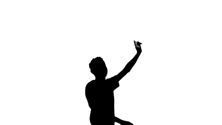 Silhouette Teen Mobile: Stock Motion Graphics