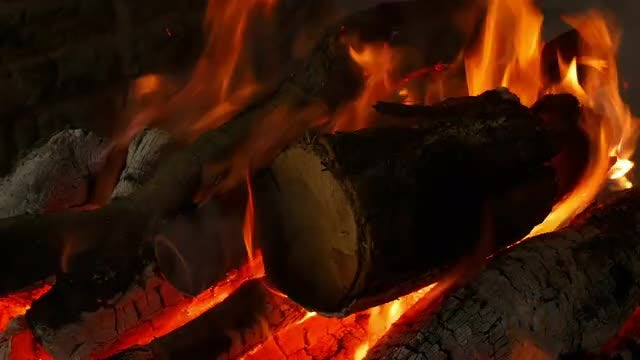 Close-Up Of A Fire: Stock Video