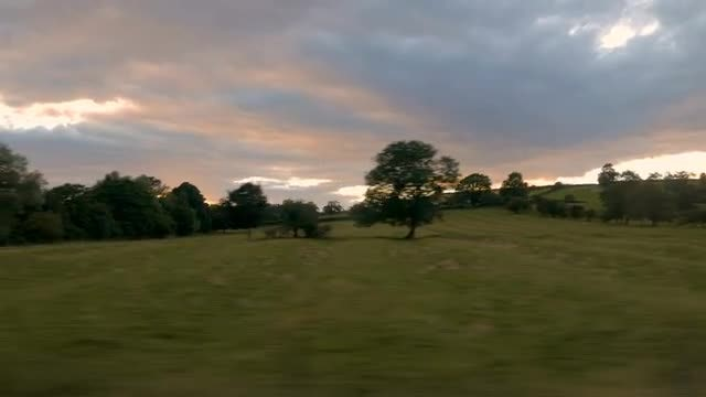 Countryside From The Train: Stock Video