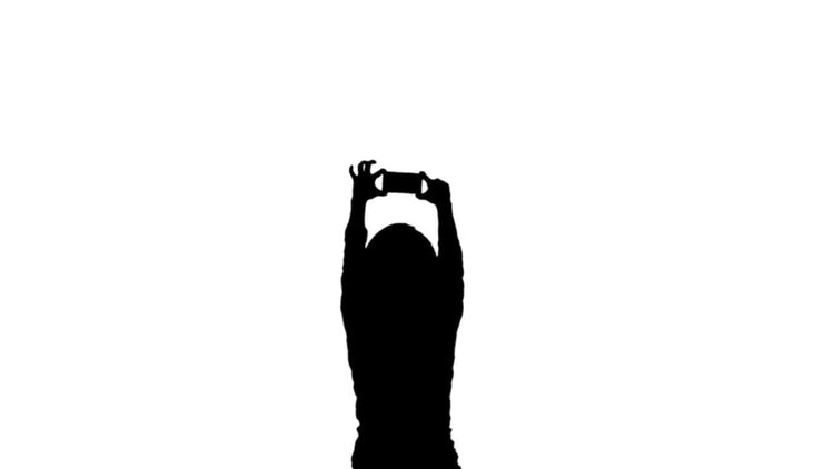 Silhouette Girl Mobile: Motion Graphics