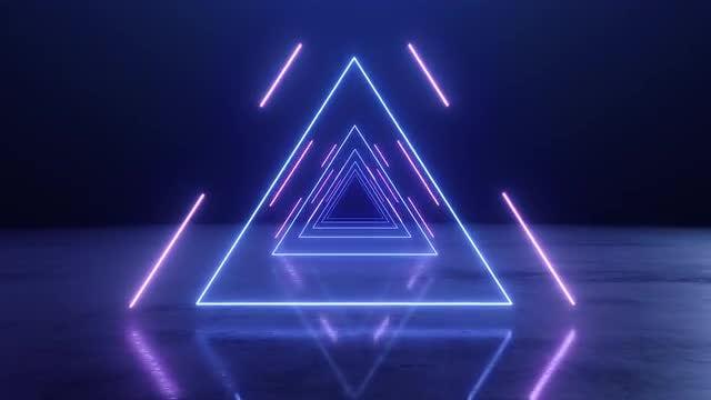Neon Triangle: Stock Motion Graphics