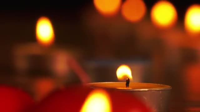 Romantic Candle: Stock Video