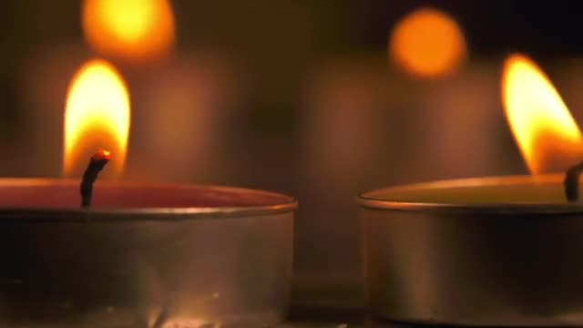 Romantic Candle Spinning: Stock Video