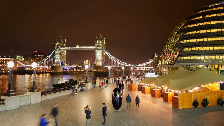 Tower Bridge In London: Stock Video