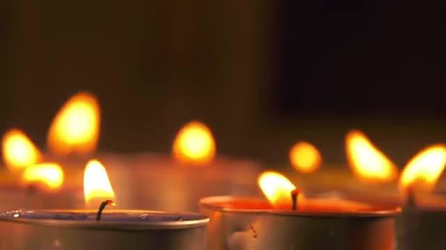 Romantic Candle Light: Stock Video