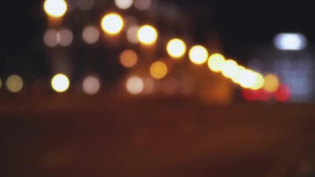 Blurred City Lights: Stock Video