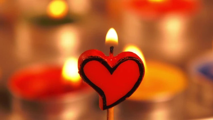 Romantic Candle Burning: Stock Video