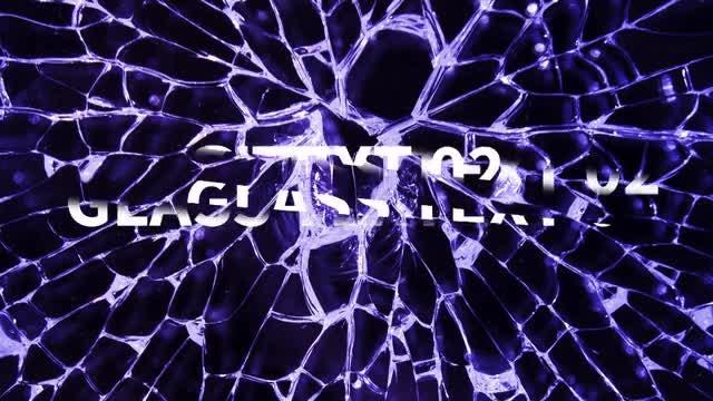 Glass Text: Premiere Pro Templates