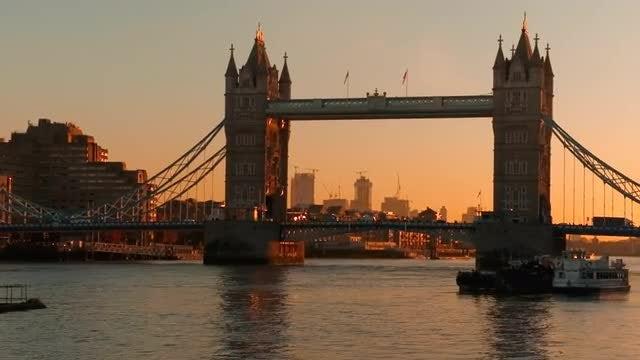Sunrise In London: Stock Video
