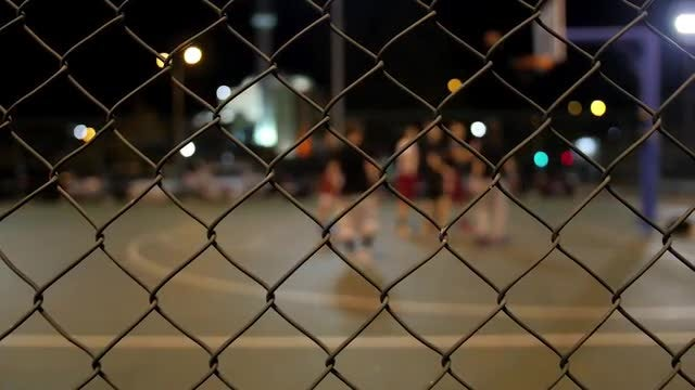 Basketball At Night: Stock Video
